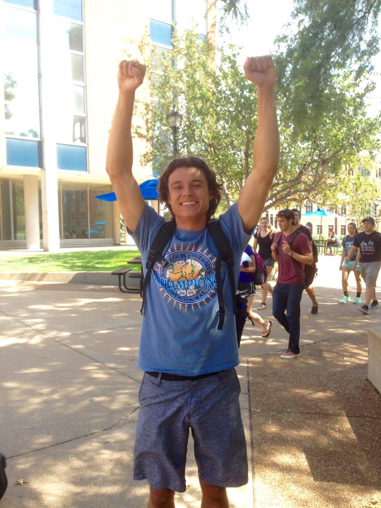 """""""Be a Billiken"""" and I couldn't agree more with @olekborys's definition of school spirit #SLUvLU  #sh1 http://t.co/bjpl7YDWfc"""