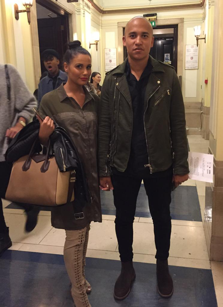Look who we found at @FreemasonsHall one of our favourite couples @jwshua and @xAMMasi looking fierce #LFW http://t.co/G4m8Ck9QNm