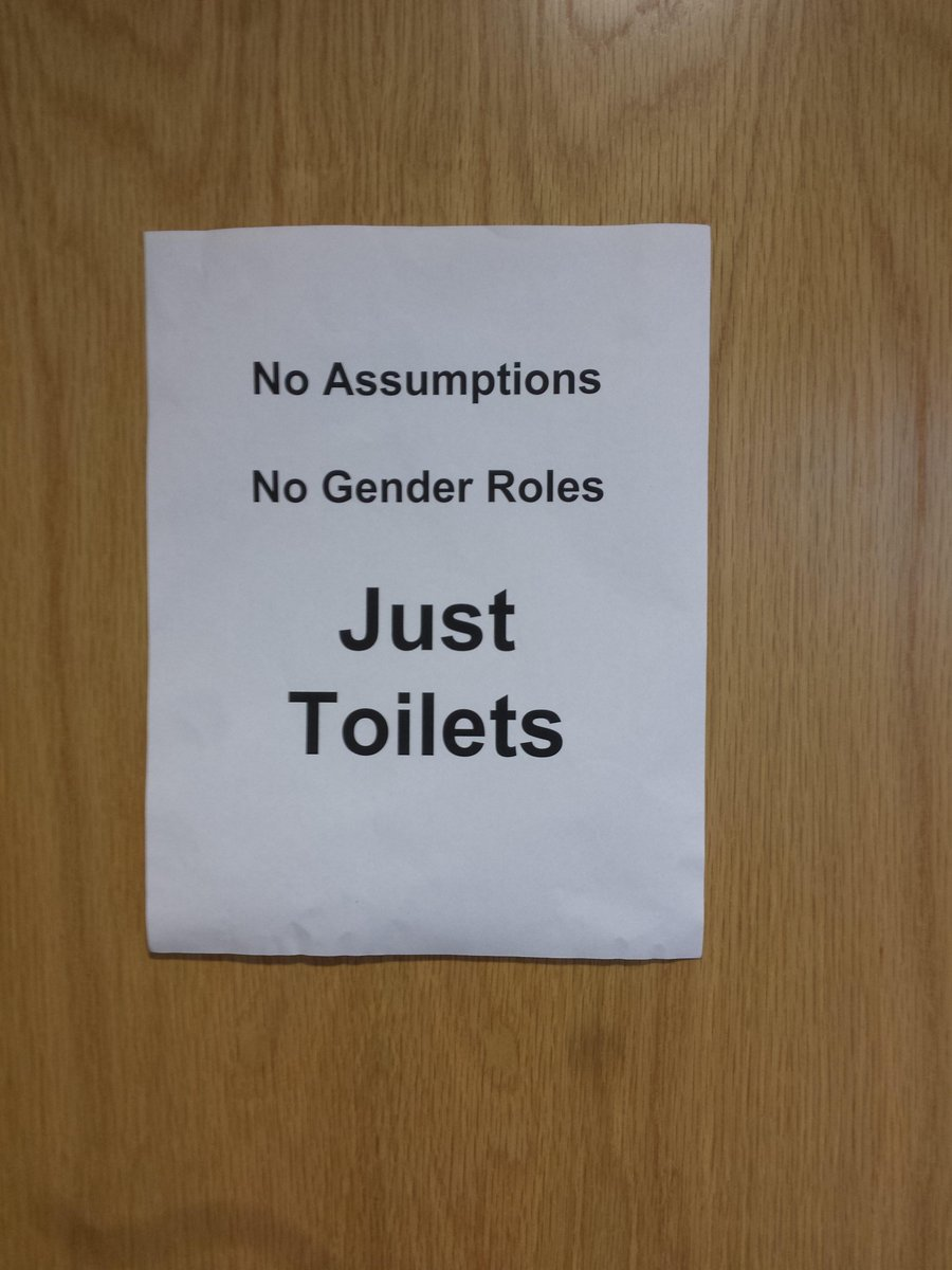 The toilets at @trans_code @PyConUK are gender neutral with very nice signage! http://t.co/ECW8B73zOj