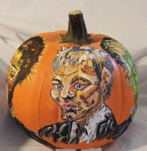 A Sketchy Tom Brady Pumpkin