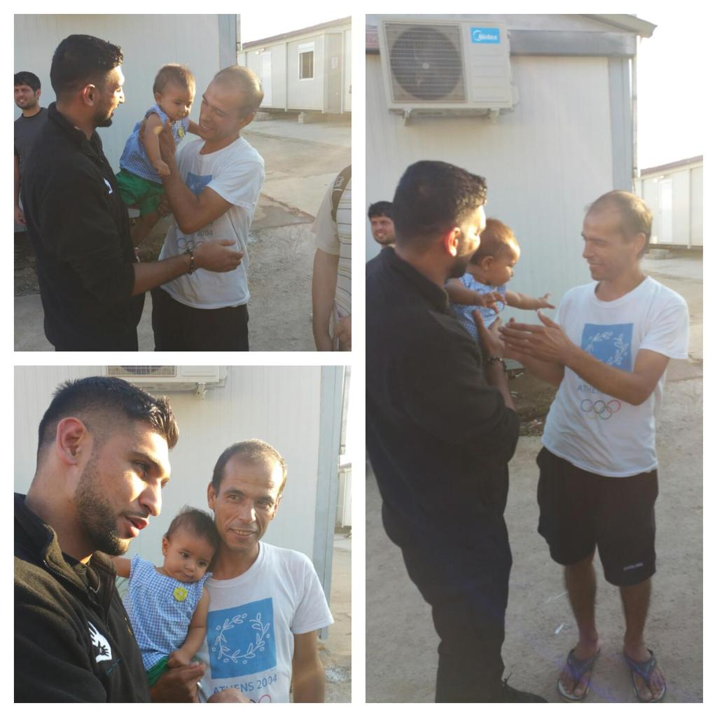 The @AKFoundation in Greece stopped at a camp in Athens @AmirKingKhan meeting families that made it here http://t.co/8VkV5NHAYE
