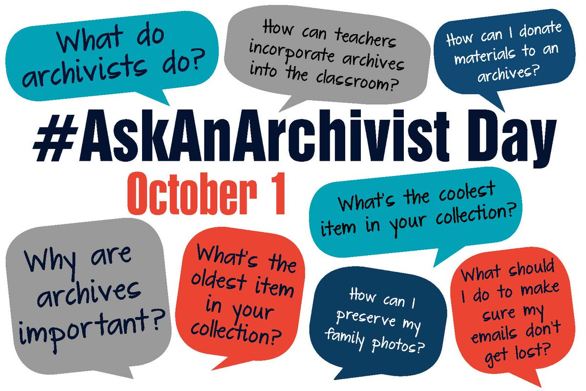 Spread the word: #AskAnArchivist Day is October 1! http://t.co/vS7pLDEvCB http://t.co/bnMKqJ8cSS