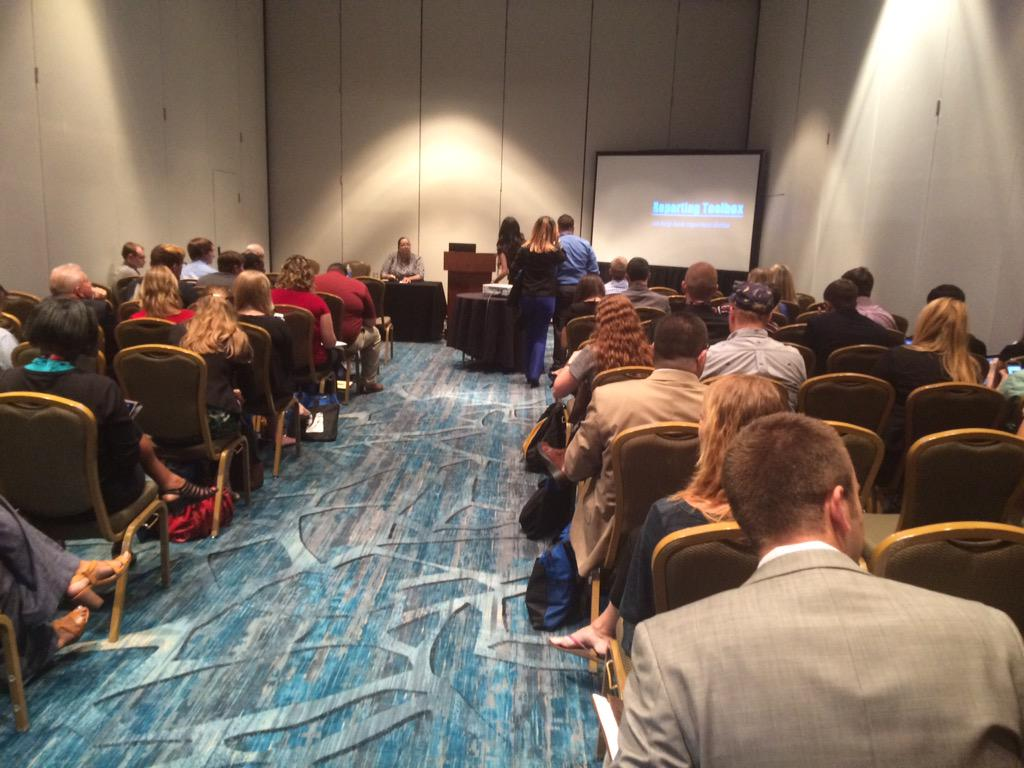 The Sports Beat Reporting session at #EIJ15 was extremely well attended. Close to 70-80 people by the start. @RTDNA http://t.co/shNoDXpvFT