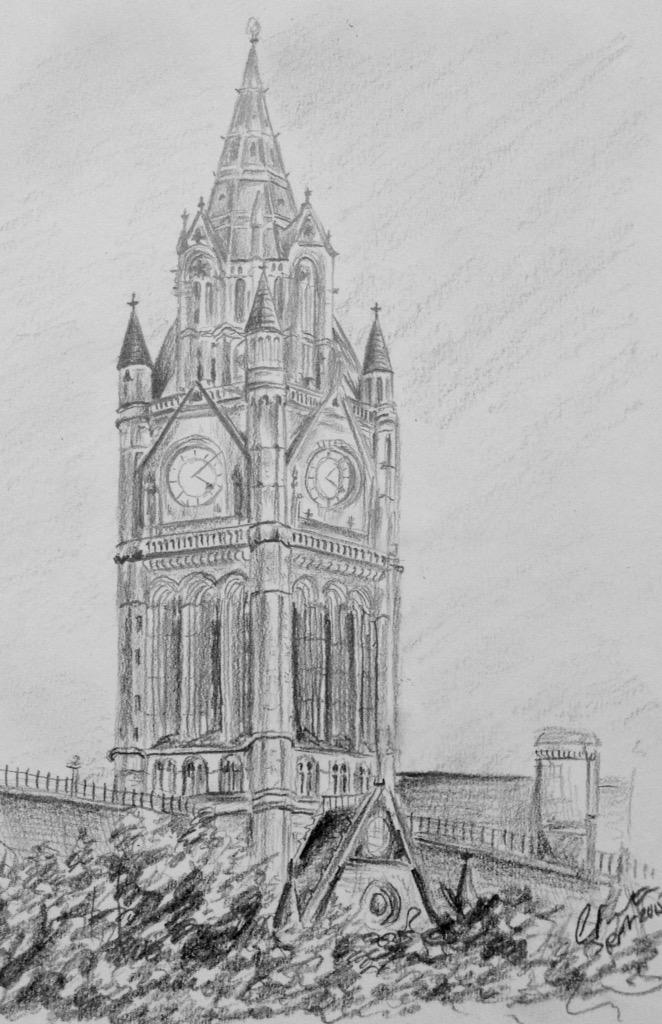 Coralie Foster On Twitter Pencil Drawing Of The Clock Tower Manchester Town Hall Dailysketch Twitart Early Northwesthour Tco YFvBRGxehT
