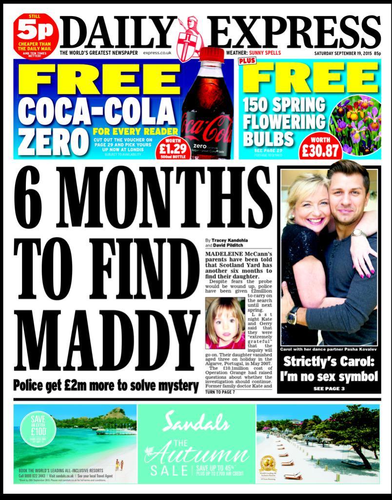 6 Months to find Maddy - Daily Express CPNhInWWoAEQ11T