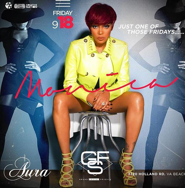 #Tonight R&B Legend #Monica Stops by #GrandSocialFridays @auralounge757 pull up