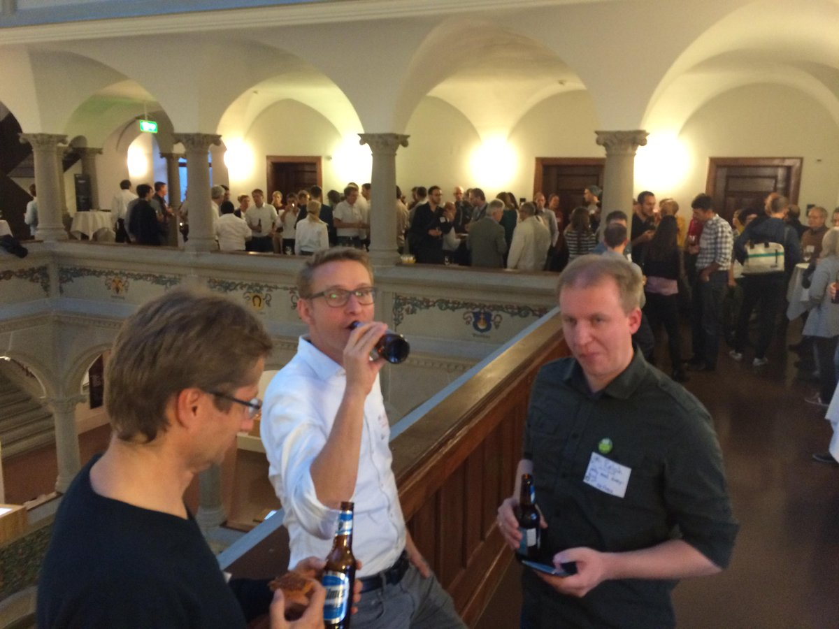 And here are @rastrau, @MartyPhilipp and 90+ other #GeoBeer lovers a the wonderful venue of Stadthaus Zürich. http://t.co/oxHUj5lLMt