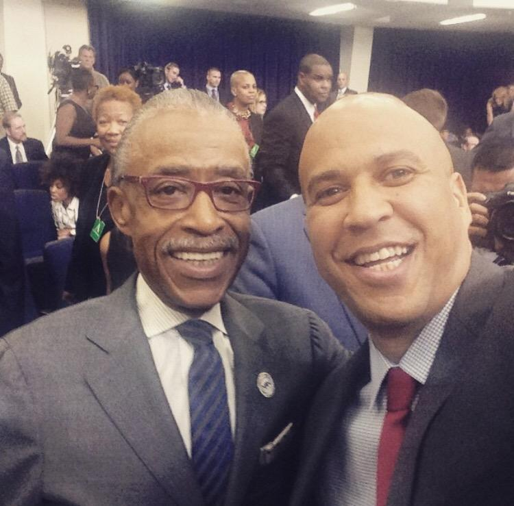 Image result for sharpton cory booker
