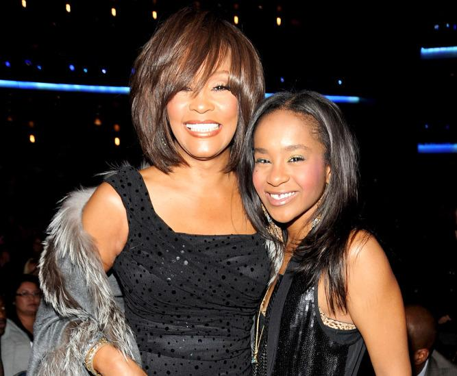 Whitney and Bobbi Kristina.