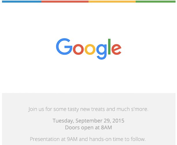 Google Is Unveiling 'New Treats' — Like Its Next Nexus Device — On September 29th