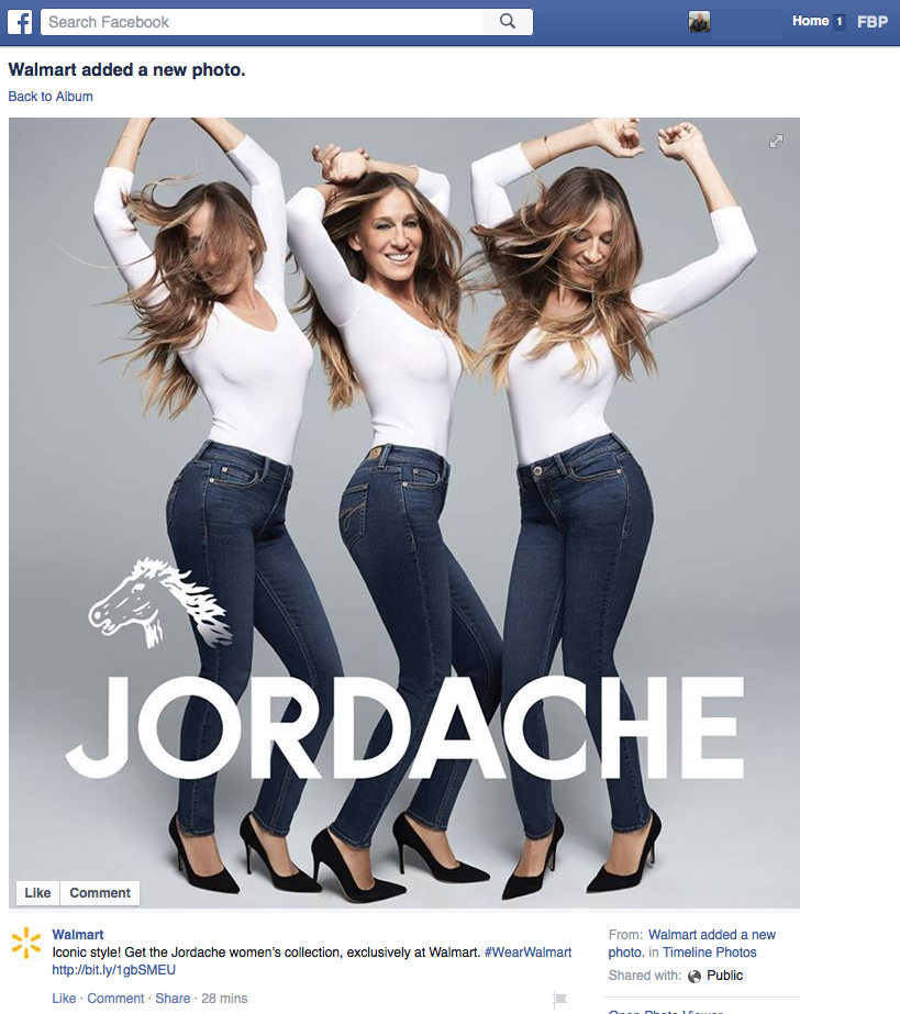 Eugene Ciurana On Twitter I Thought This Was A Parody Real Walmart Ad Featuring Sarah Jessica Parker In Jordache Jeans Branding Ftw Funny