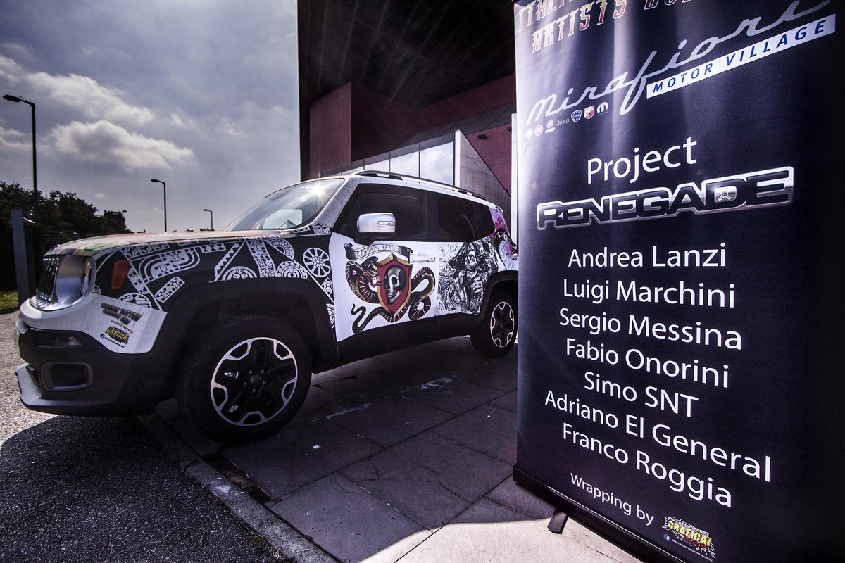 Jeep Renegade tatuata alla kermesse Italian Tattoo Artists 2015