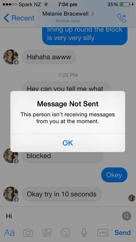 What happens when you block someone