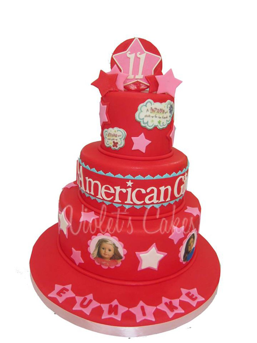 Astonishing Violets Cakes On Twitter American Girl Theme Americangirl Personalised Birthday Cards Paralily Jamesorg
