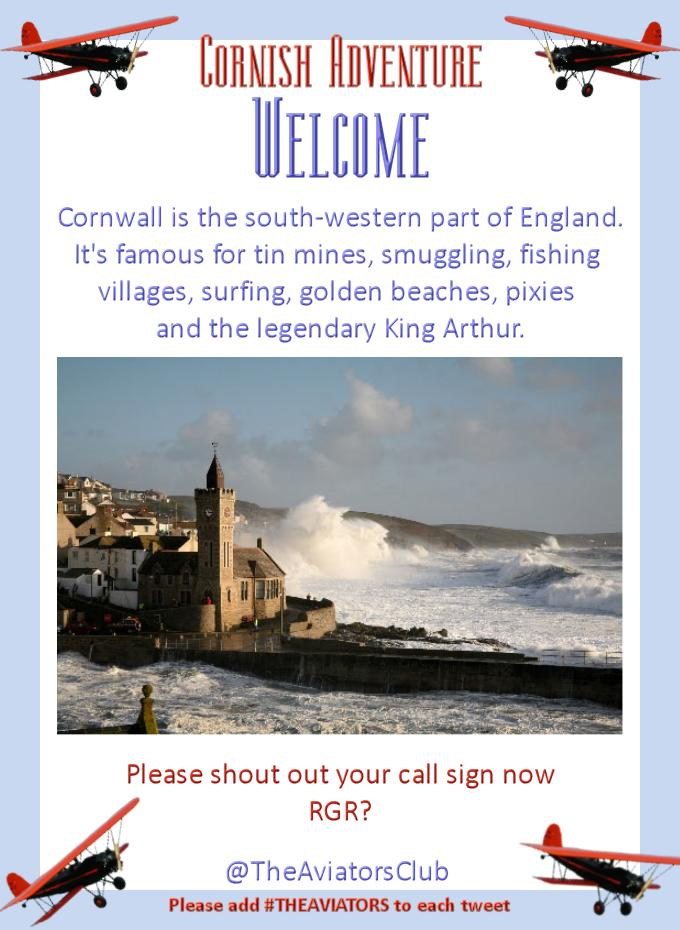 Welcome to #TheAviators Cornish adventure. I'd like to show you around one of my favourite parts of England http://t.co/NooQp1nXw4