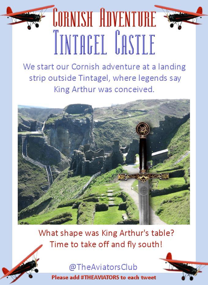 We're starting #TheAviators Cornish adventure at Tintagel castle where legend says King Arthur was born! http://t.co/uMw1yJxt2j