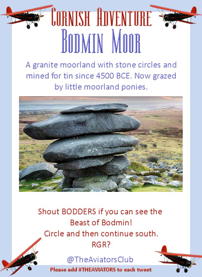 We're flying south from Tintagel to Bodmin Moor... keep your eyes peeled for the legendary BEAST! http://t.co/fpRqop5fP5