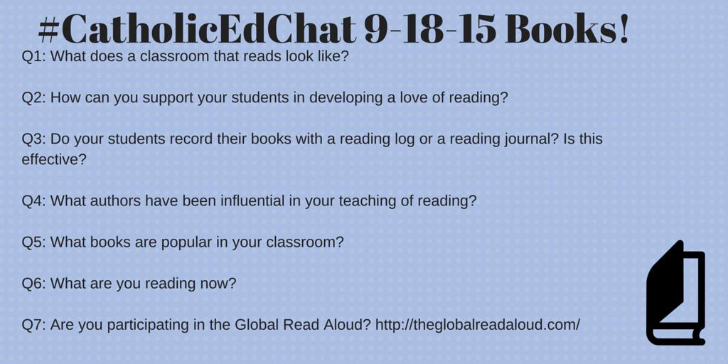 #CatholicEdChat begins at 8am CST. Join us to talk about reading! http://t.co/oODHXdjM1h