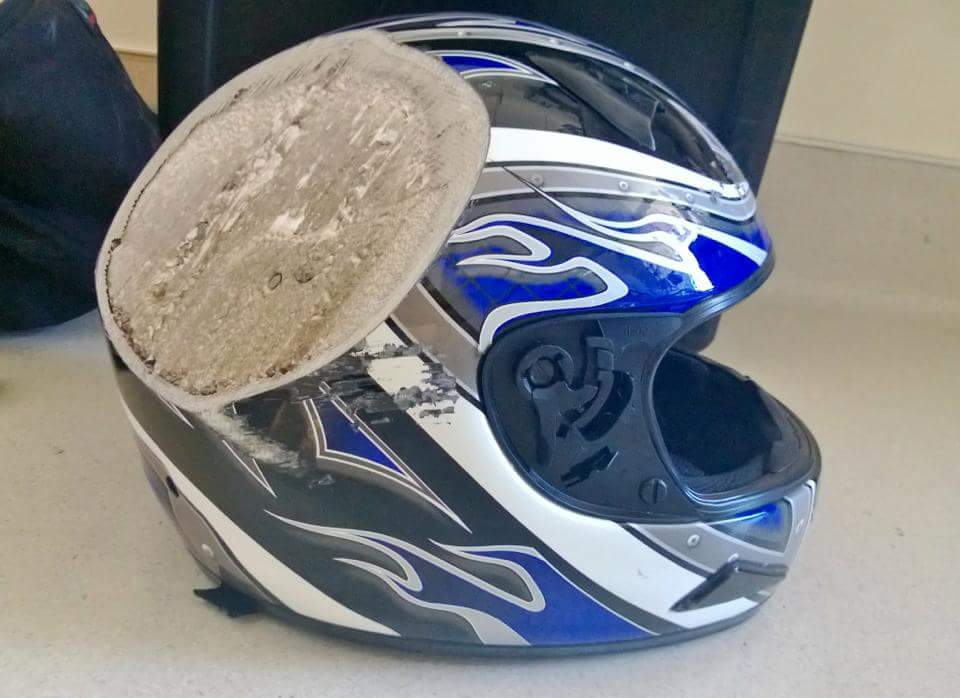 And this is why you need to wear a helmet! !! http://t.co/zEyyo0E5Ho