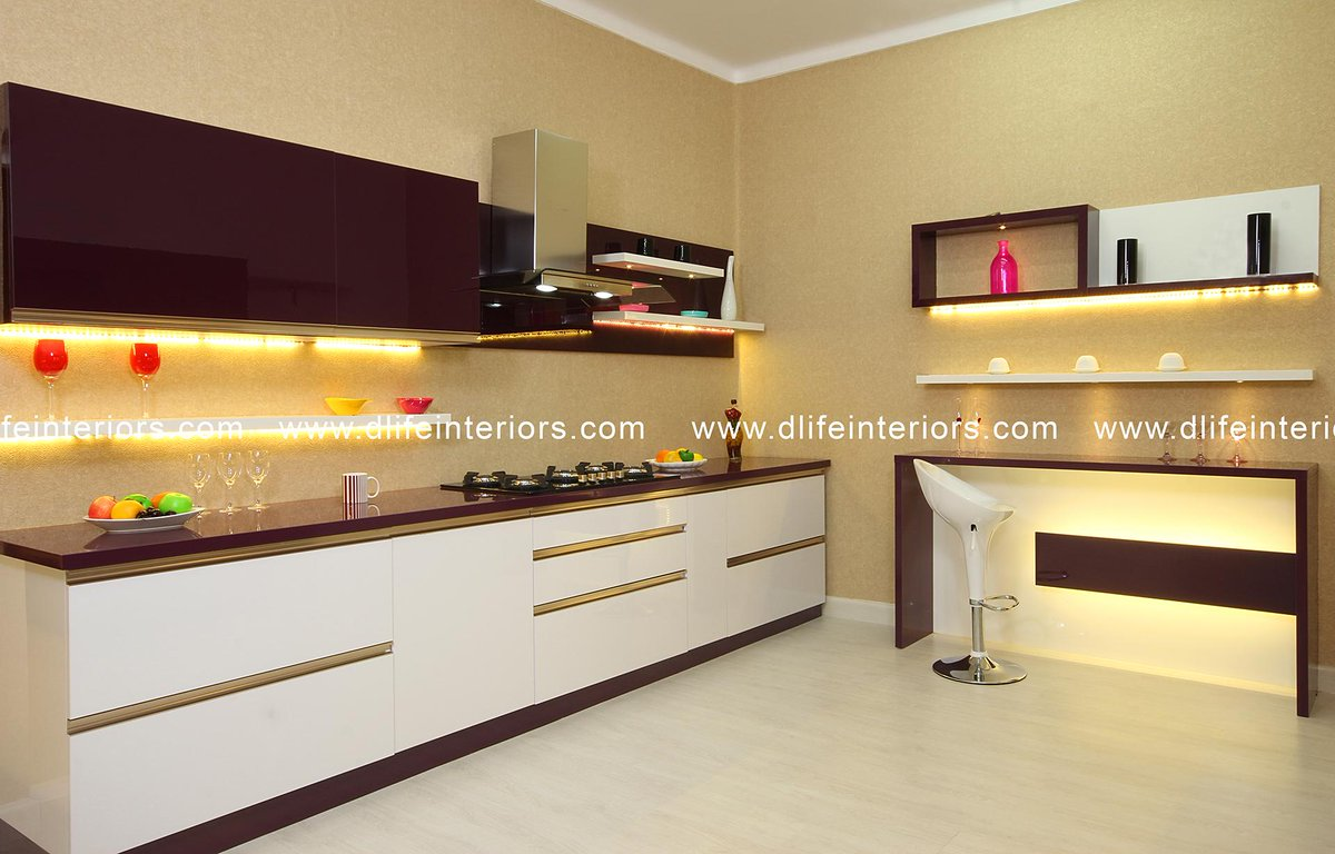 D Life Interiors On Twitter Modern Kitchen Furnished In Black