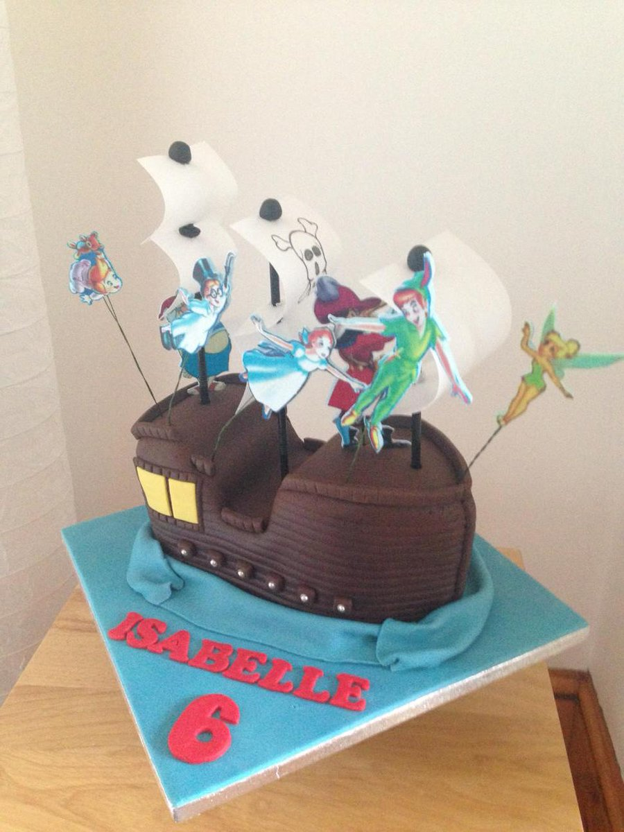 Awe Inspiring Julie Roche On Twitter Peterpan Pirate Ship Tinkerbell Personalised Birthday Cards Arneslily Jamesorg