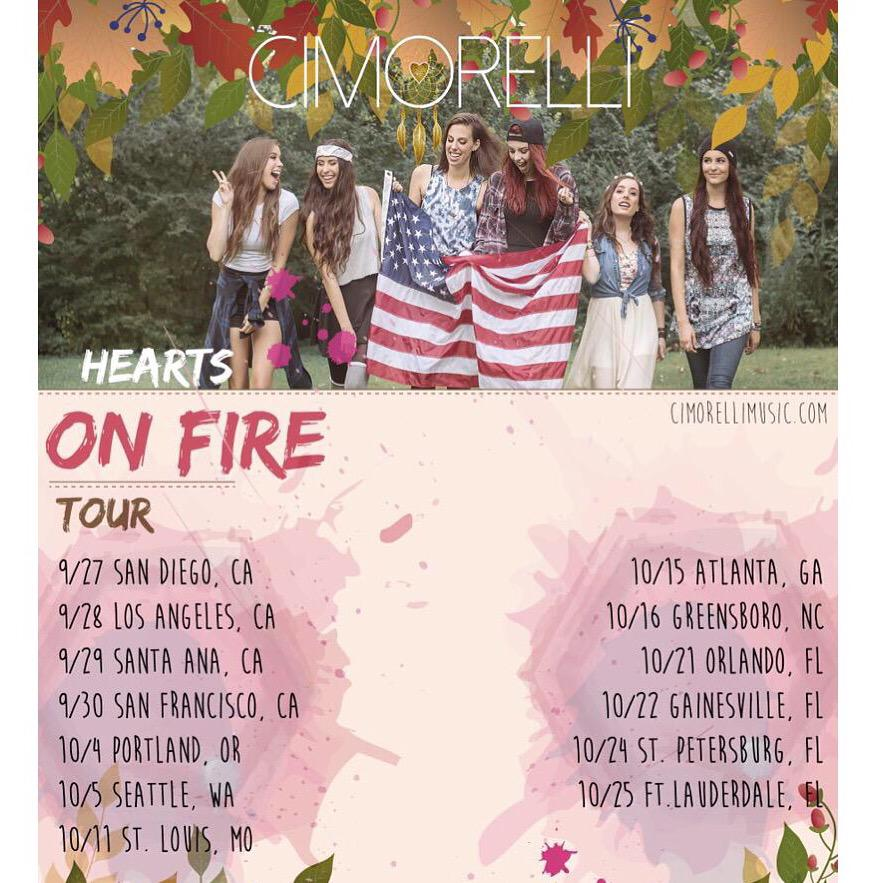 FOLLOW SPREE! RT!  Come see Cimorelli on US TOUR!!! Tickets: http://t.co/EL1wVmdCff http://t.co/O7rxHKiSz0