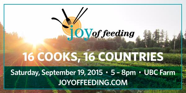 Vijs_restaurant: RT LynnZan: Grab your rain gear and join us at ubcfarms #JoyofFeeding 5-8 pm. We're on our way!! … http://t.co/A6zctbdCgn