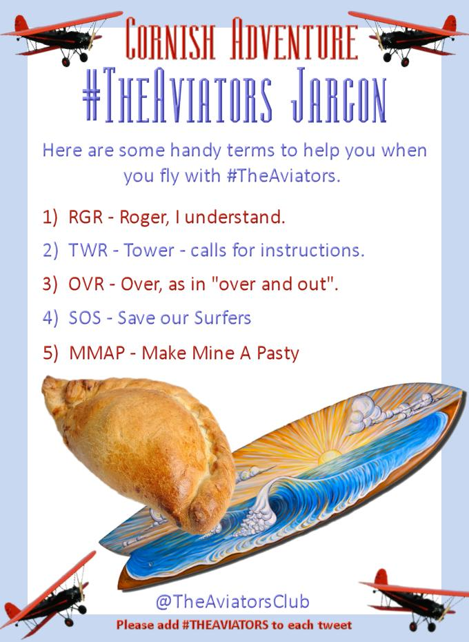 Here's a quick reminder of #TheAviators jargon for the Cornish Adventure... http://t.co/ya1LqawfMR