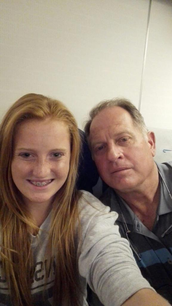 Just made our flight...checked in with my daughter, on our way to Rugby World Hall of Fame induction. http://t.co/ByAL3vzj1h
