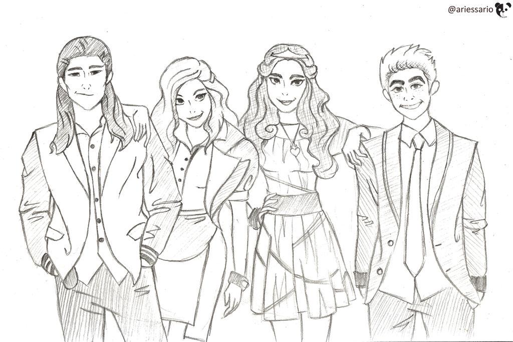 Free Printable Coloring Pages Disney Descendants : Evie disney descendants coloring pages