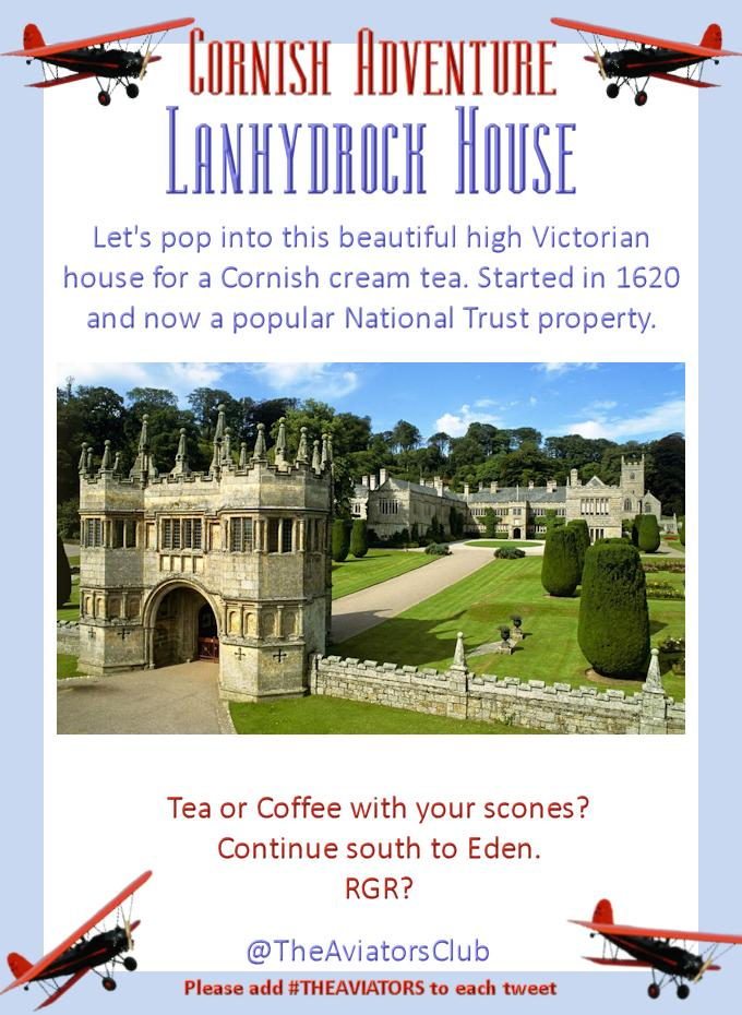 There is Lanhydrock House... a beautiful high Victorian holiday home. Even they loved Cornish summer. #TheAviators http://t.co/4POJQus5u8