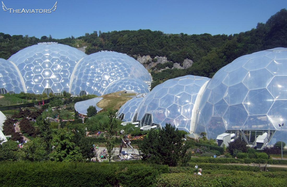 Flying over the Eden Project... oh my goodness this place is HUGE! #TheAviators http://t.co/WicQzDIVTf