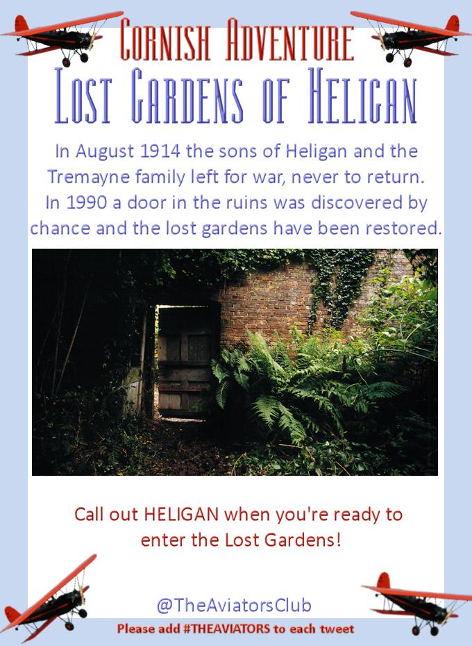 Heligan is beautiful and a memorial to a lost generation. The gardens where lost for 70 years! #TheAviators http://t.co/Wb31r9DhNy