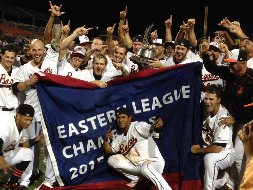 The Baysox have won their first Eastern League Championship! #BringHometheBAYcon http://t.co/Db59yd5ip1