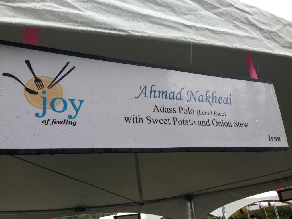 Starting at 5:00 PM @ubcfarm #joyoffeeding. 16 cooks serving delicious ethnic dishes.Fun & festive even in the rain http://t.co/sGHnXKMLFh