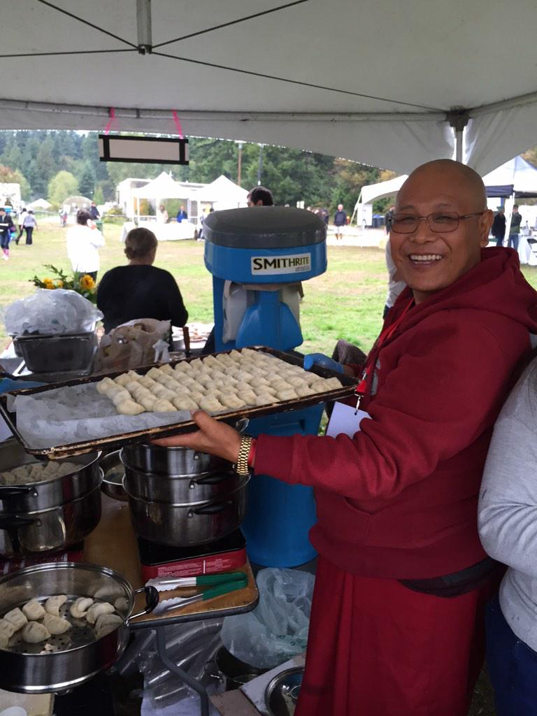 Tibetan momos! At Joy of Feeding @ubcfarm @ubcnews @MeeruDhalwala http://t.co/eio32yflOJ