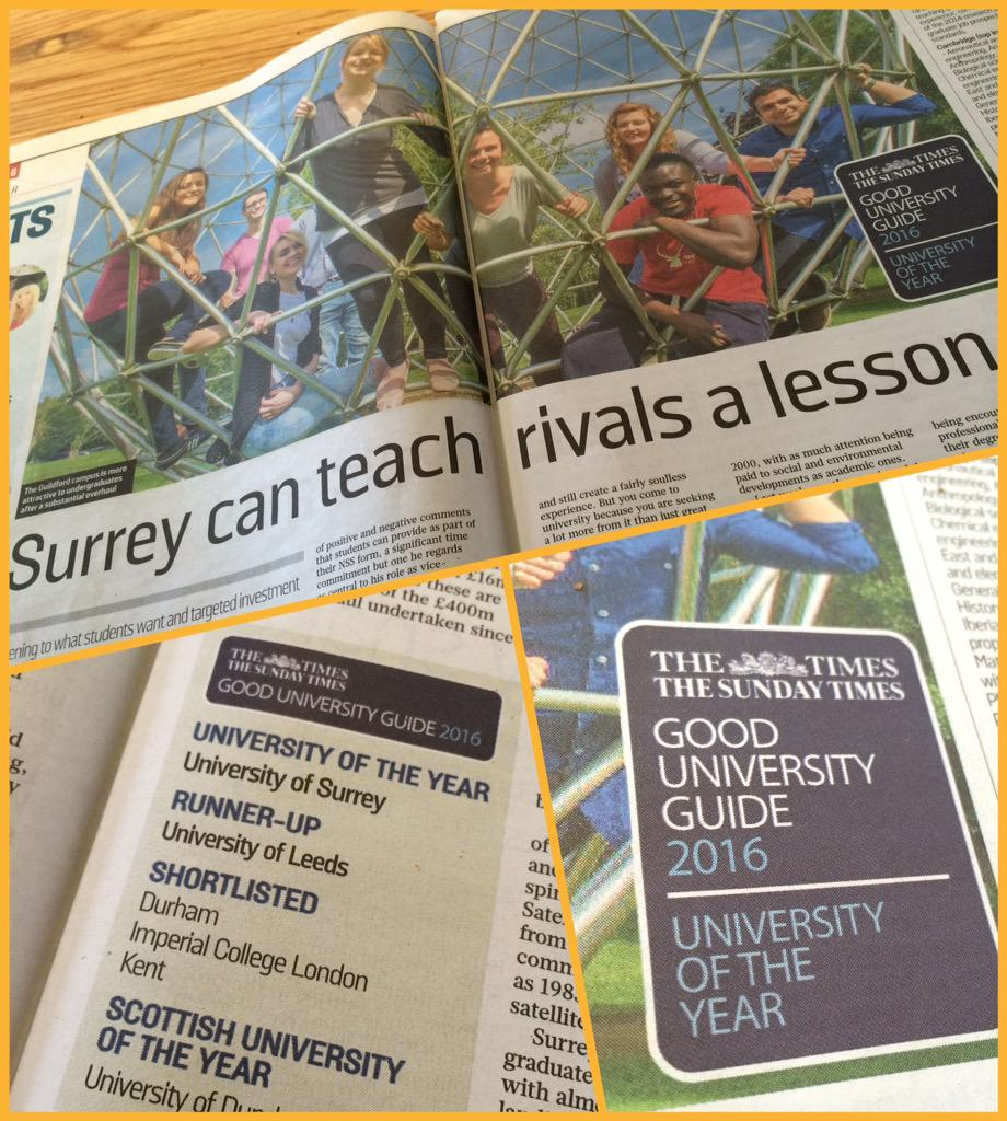 Look what we spotted in @thesundaytimes today! #ProudToBeSurrey @UniOfSurrey http://t.co/7fUf2nDSSe