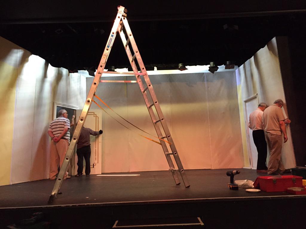 Set building day #Swindon #amateurtheatre #drama #PHOTOS #theatre