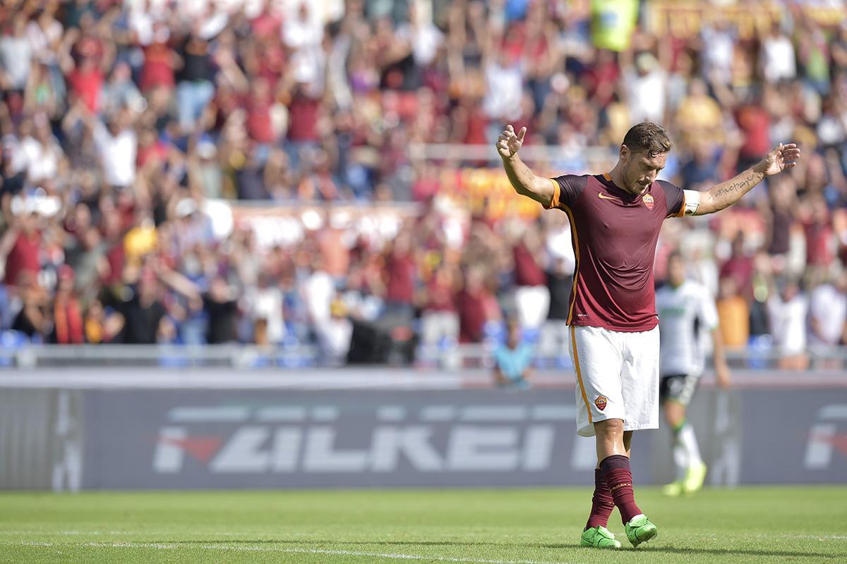 Roma Sassuolo Video Gol FrancescoTotti fa 300 gol.