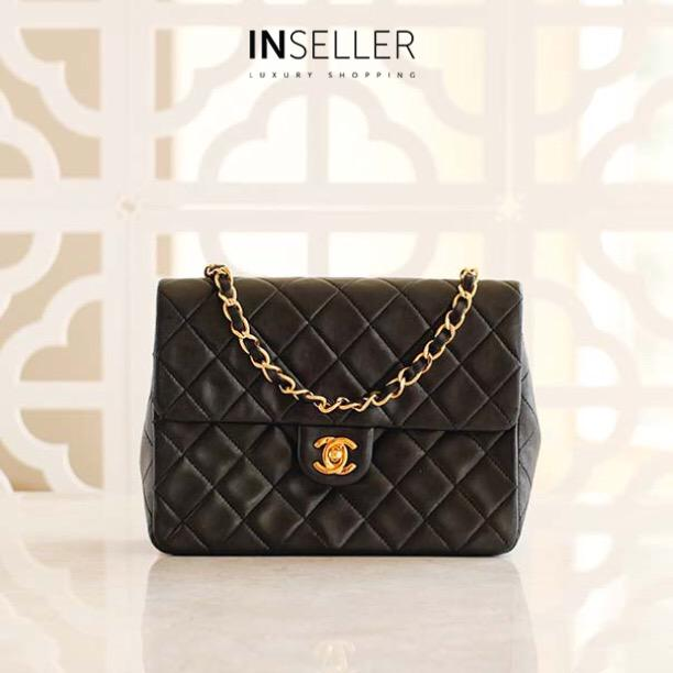 5be8869e850e  Chanel Lambskin Single Flap Bag