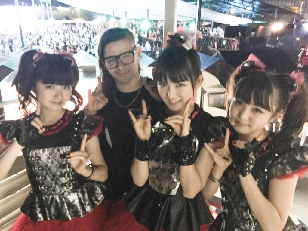 babymetal on twitter borderless collaboration with skrillex