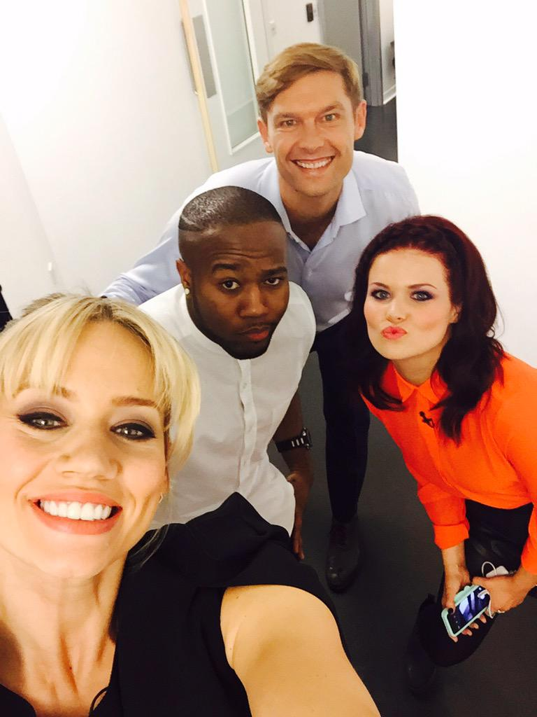 Backstage with these lovely peeps filming @cbbc #takingthenextstep @simeonqsyea @mustbejp @Linds_bluepeter #love http://t.co/zwp834W7oT