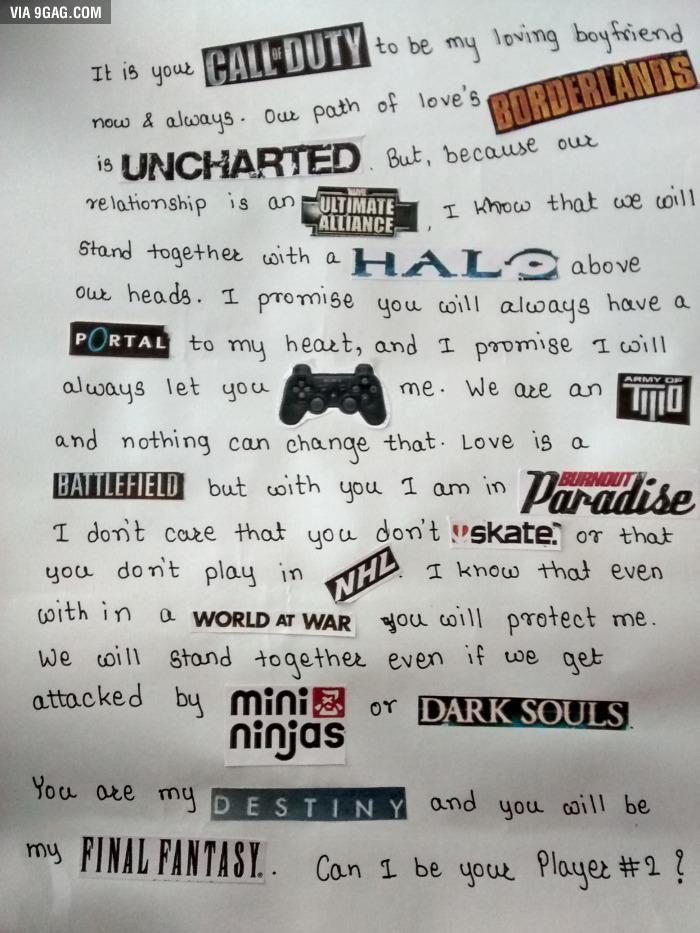 9gag on twitter best love letter ever httptcoihd3niybaz httptcorwap0yiliy