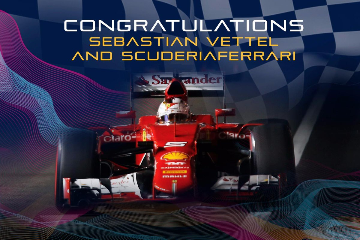 Congratulations Sebastian Vettel and @ScuderiaFerrari  for winning the 2015 FORMULA 1 SINGAPORE GRAND PRIX! http://t.co/XHv2SAKUUc