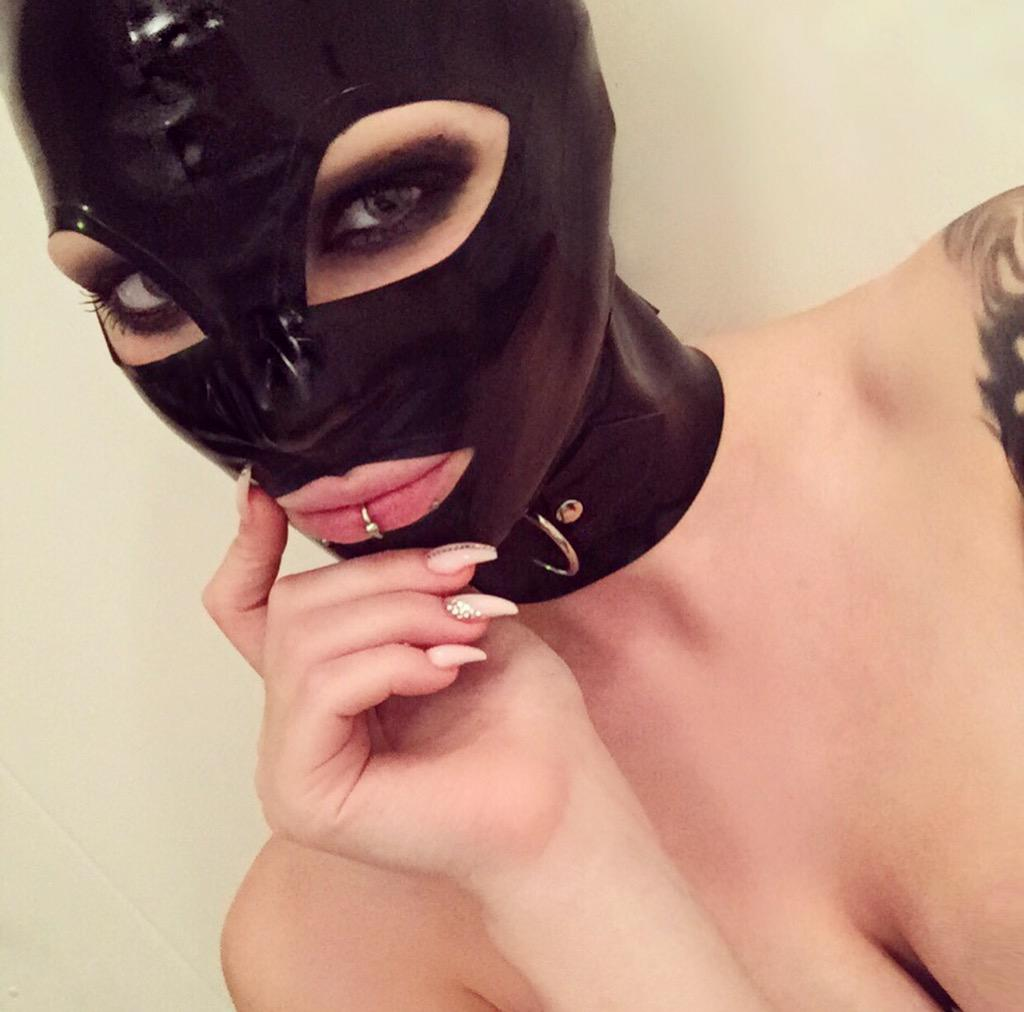 Starfucked  - 😘 twitter @StarfuckedModel latex,fetishmodel,hood,piercings,starfucked