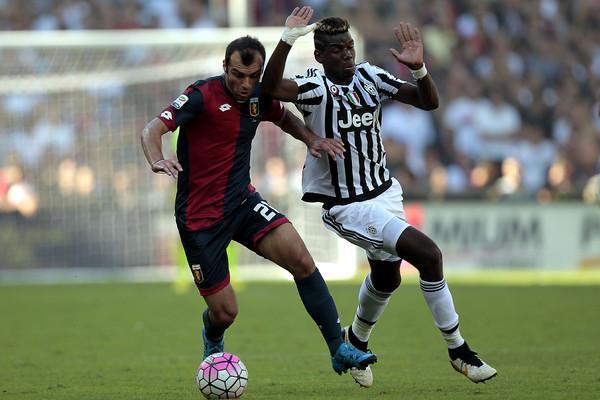 Pandev looks to evade Paul Pogba