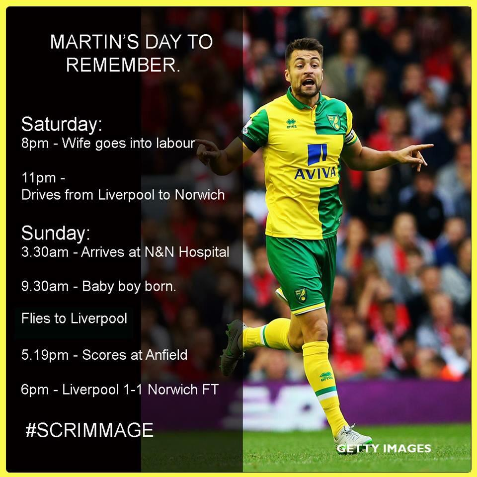 What a day for the #ncfc captain. http://t.co/1zUKP7QPAJ