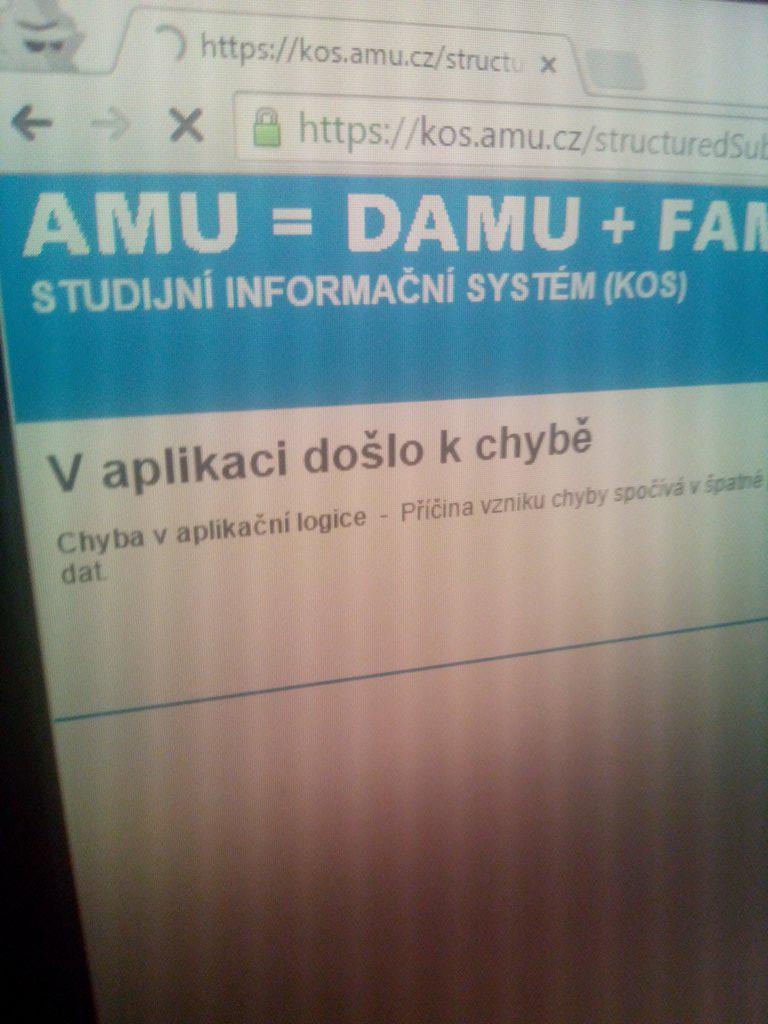 http://t.co/bDatG8Xq3T KOS aneb Kurevsky odflaknuty systém. Aneb radosti se zápisem #amu #hamu #kos #informacniSystem http://t.co/hXEuNmy53x