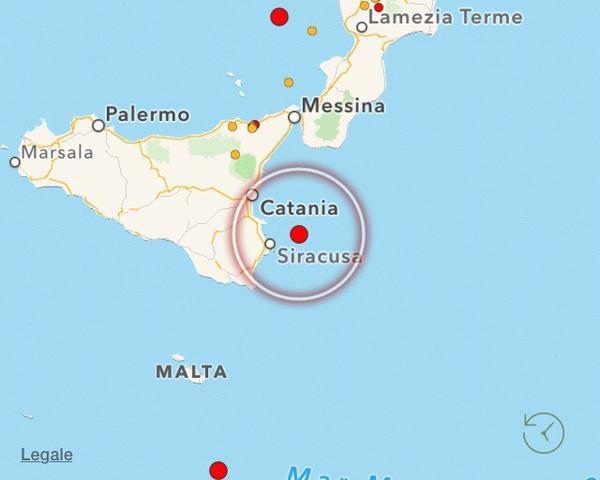 Epicentro del terremoto di magnitudo M3,9 è avvenuto la notte tra il 20 e il 21 settembre 2015.