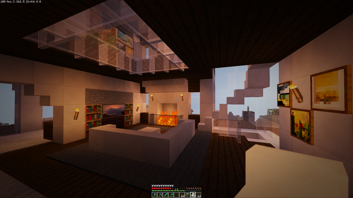 "Modern Living Room Minecraft jayztwocents on twitter: ""modern house living room in minecraft"